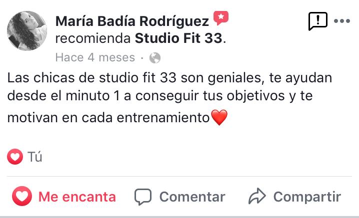 """""""las chicas de Studio Fit 33 son geniales..."""""""